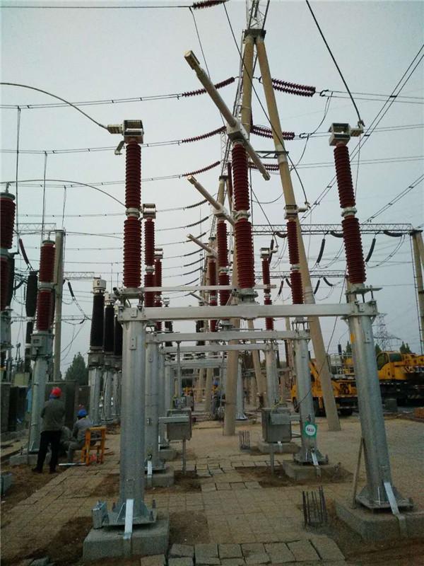 GW7系列三柱水平旋转式高压交流隔离开关